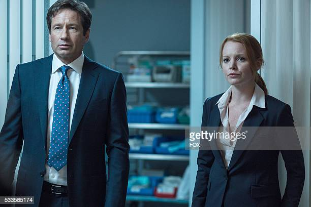 David Duchovny and guest star Lauren Ambrose in the Babylon episode of THE XFILES airing Monday Feb 15 on FOX