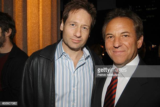 David Duchovny and Jim Wiatt attend VANITY FAIR Tribeca Film Festival Party hosted by Graydon Carter and Robert DeNiro at The State Supreme...
