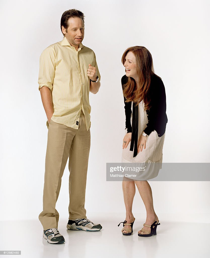 David Duchovny and Julianne Moore