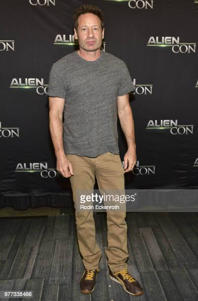 David Duchovny at AE Networks Mischief Management Prometheus Entertainment present AlienCon 2018 at Pasadena Convention Center on June 17 2018 in...