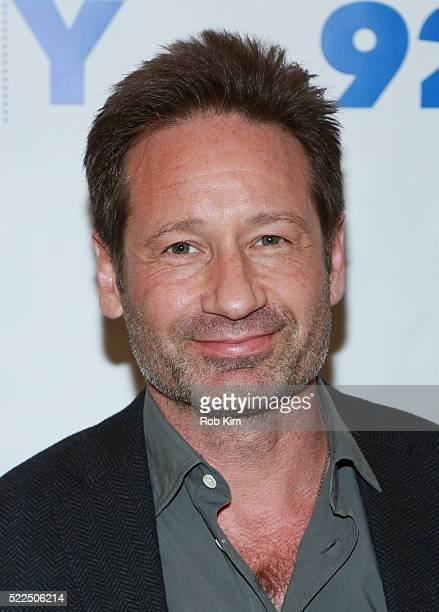 David Duchovny attends 92Y Talks at Kaufman Concert Hall at the 92Y on April 19 2016 in New York City