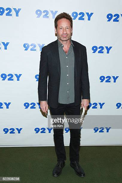 David Duchovny attends 92Y Talks at Kaufman Concert Hall at the 92Y on April 19, 2016 in New York City.