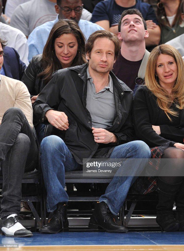 Celebrities Attend Atlanta Hawks Vs New York Knicks - March 8, 2010