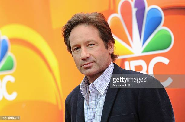 David Duchovny attends the 2015 NBC Upfront Presentation Red Carpet Event at Radio City Music Hall on May 11 2015 in New York City