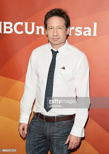 David Duchovny attends the 2015 NBCUniversal Summer Press Day held at the The Langham Huntington Hotel and Spa on April 02 2015 in Pasadena California