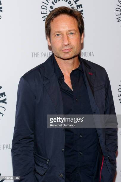 David Duchovny attends The Truth Is Here David Duchovny And Gillian Anderson On The XFiles at The Paley Center for Media on October 12 2013 in New...