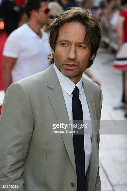 David Duchovny attends the UK premiere of The XFiles I Want To Believe at Empire Leicester Square on July 30 2008 in London England