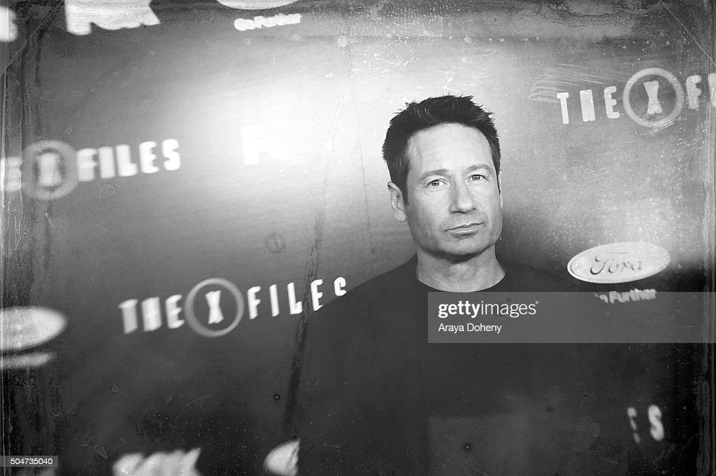 David Duchovny attends 'The X-Files' Fox premiere at California Science Center on January 12, 2016 in Los Angeles, California.