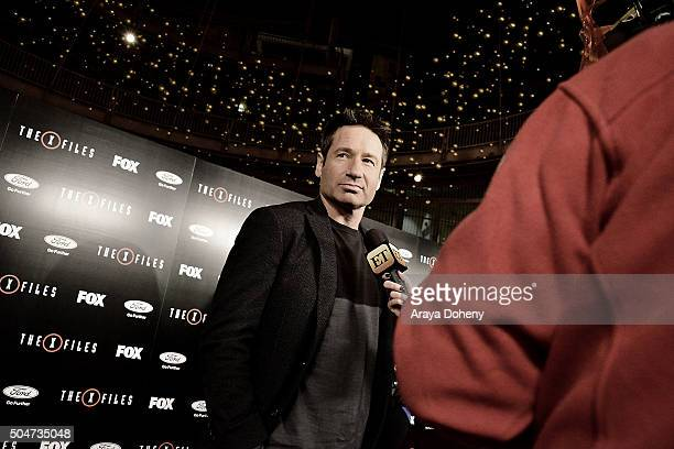 David Duchovny attends The XFiles Fox premiere at California Science Center on January 12 2016 in Los Angeles California