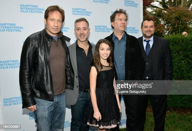 David Duchovny director Anthony Fabian Olivia Steele Falconer Timothy Hutton and Anthony Mastromauro attend the 21st Annual Hamptons International...