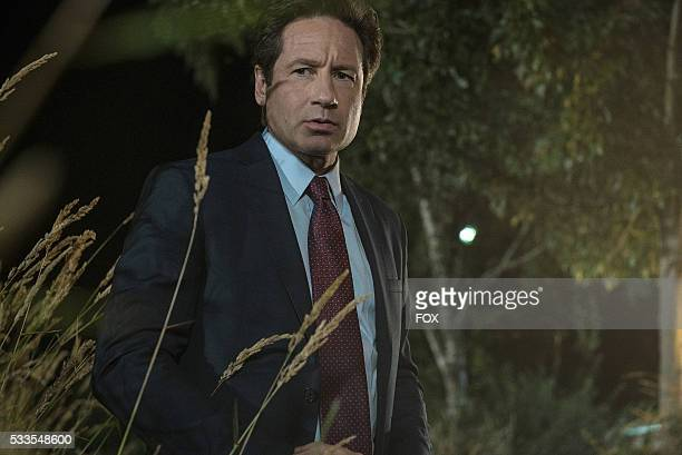 David Duchovny in the Mulder Scully Meet the Weremonster episode of THE XFILES airing Monday Feb 1 on FOX