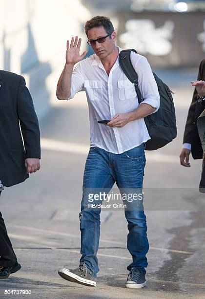 David Duchovny is seen at 'Jimmy Kimmel Live' on January 12 2016 in Los Angeles California