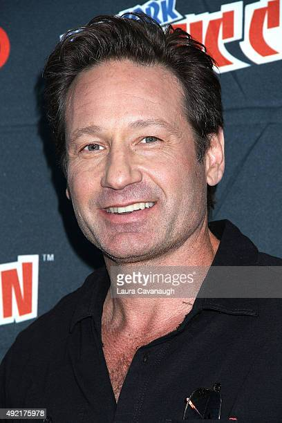 David Duchovny of The XFiles attends New York ComicCon 2015 day three at The Jacob K Javits Convention Center on October 10 2015 in New York City