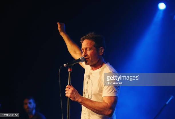 David Duchovny performs at Metro Theatre on February 24 2018 in Sydney Australia