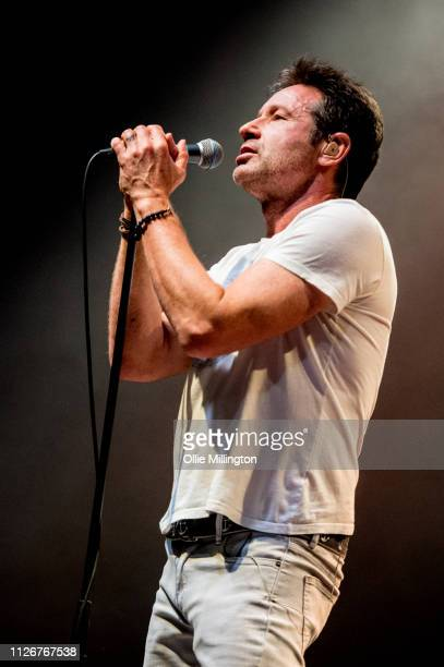 David Duchovny performs at O2 Shepherd's Bush Empire during the European 2019 Every Third Thought Tour on February 22 2019 in London England