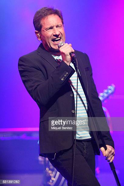 David Duchovny performs in Concert at Sala Barts on May 14, 2016 in Barcelona, Spain.