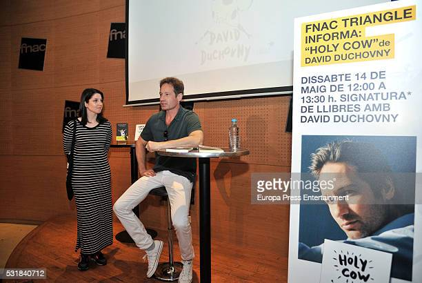 David Duchovny presents his book 'Holy Cow' on May 14 2016 in Barcelona Spain