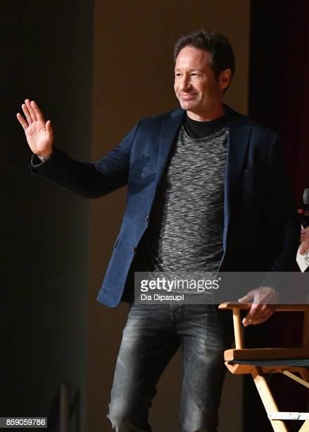 David Duchovny speaks onstage at The XFiles panel during 2017 New York Comic Con Day 4 on October 8 2017 in New York City