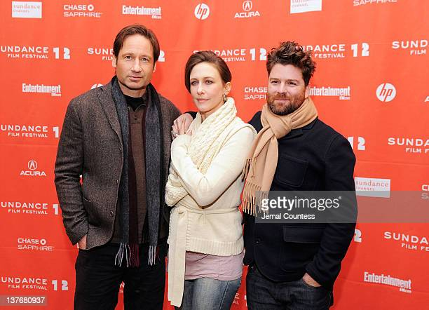 David Duchovny Vera Farmiga and Christopher Neil attend the GOATS premiere during the 2012 Sundance Film Festival held at Eccles Center Theatre on...
