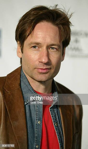 """David Duchovny walks the red carpet at the American Express """"Live at the Battery"""" Concert during the 2004 Tribeca Film Festival May 8, 2004 in New..."""