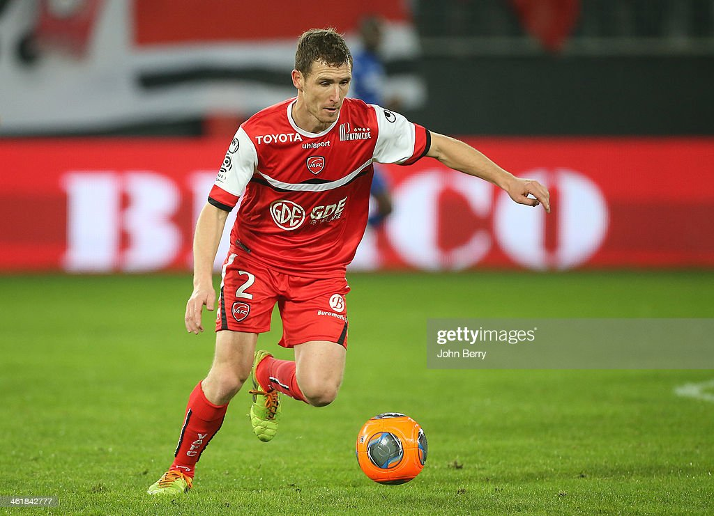 David Ducourtioux of Valenciennes in action during the french Ligue 1 match between Valenciennes FC and SC Bastia at the Stade du Hainaut on January 11, 2014 in Valenciennes, France.