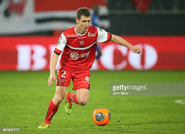 David Ducourtioux of Valenciennes in action during the french Ligue 1 match between Valenciennes FC and SC Bastia at the Stade du Hainaut on January...