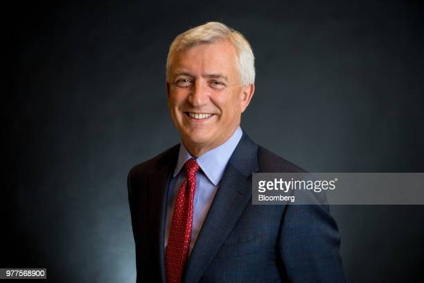 David Duffy chief executive officer of CYBG Plc poses for a photograph following a Bloomberg Television interview in London UK on Tuesday May 15 2018...