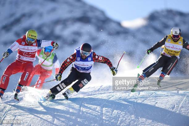 David Duncan of Canada competes Armin Niederer of Switzerland competes Sylvain Miaillier of France competes during the FIS Freestyle Ski World Cup...