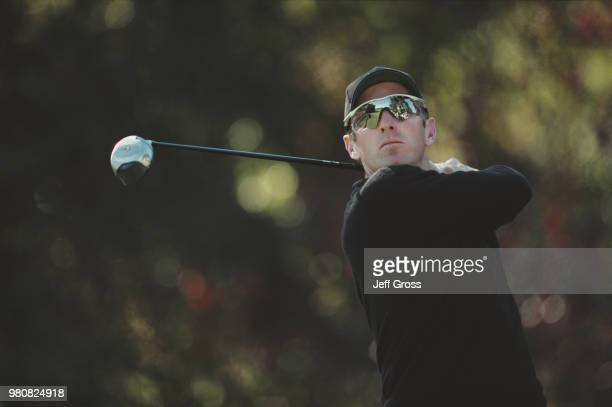 David Duval of the United States keeps his eye on his shot during the Williams World Challenge golf tournament on15 December 2001 at the Sherwood...