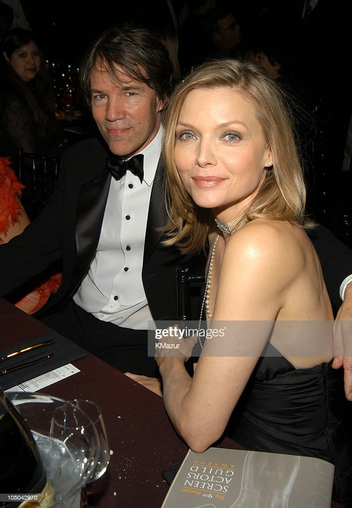 David E. Kelley and Michelle Pfeiffer during Ninth Annual Screen Actors Guild Awards - Backstage and Audience at The Shrine Auditorium in Los Angeles, California, United States.