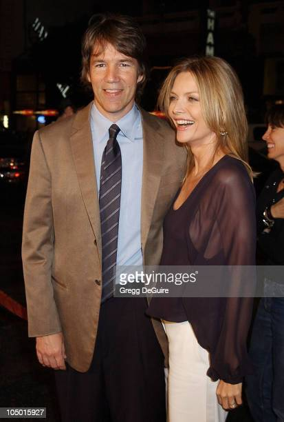 David E Kelley Michelle Pfeiffer during 'White Oleander' Premiere Los Angeles at Grauman's Chinese Theatre in Hollywood California United States