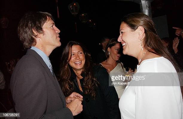 David E Kelley Rhona Mitra and Camryn Manheim
