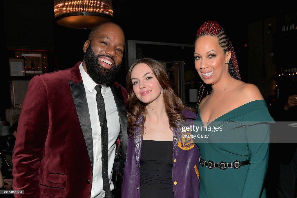 David E. Talbert, Michelle Mylett and Lyn Talbert attend the after party for Special Screening Of Netflix Films' 'El Camino Christmas' at ArcLight Cinemas on December 6, 2017 in Hollywood, California.