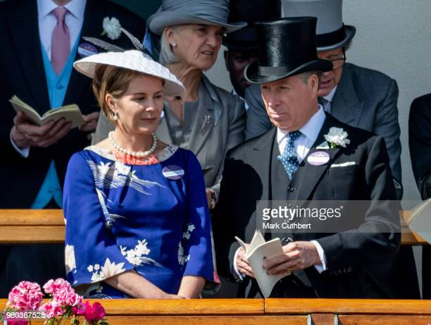 David Earl of Snowdon and Serena Countess of Snowdon attend Royal Ascot Day 3 at Ascot Racecourse on June 21 2018 in Ascot United Kingdom