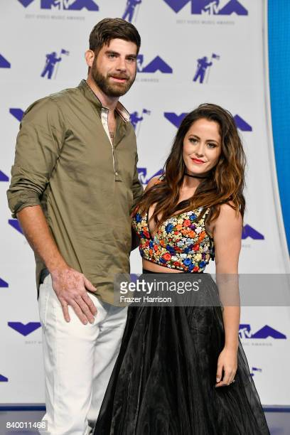 David Eason and Jenelle Evans attend the 2017 MTV Video Music Awards at The Forum on August 27 2017 in Inglewood California