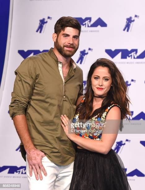 David Eason and Jenelle Evans attends the 2017 MTV Video Music Awards at The Forum on August 27 2017 in Inglewood California