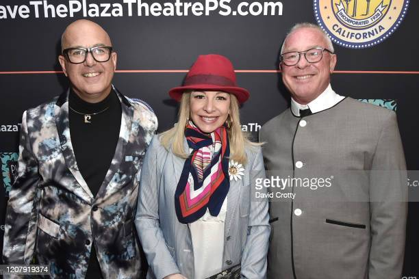 P David Ebersole Alison Martino and Todd Hughes attend the House Of Cardin Special Screening At Palm Springs Modernism Week at The Plaza Theater on...