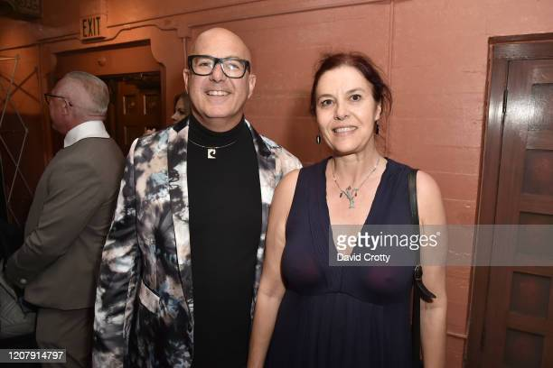 P David Ebersole and Valentina Geneva attend the House Of Cardin Special Screening At Palm Springs Modernism Week at The Plaza Theater on February 21...