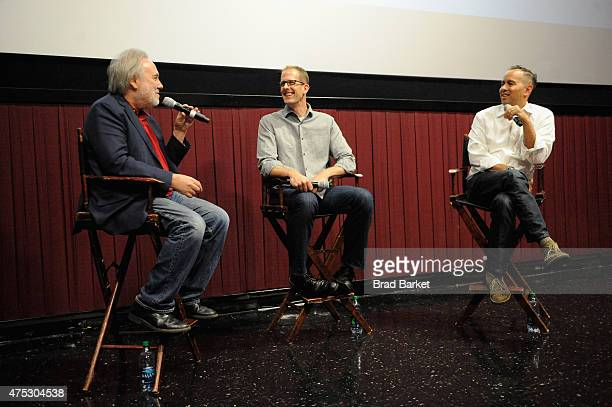 David Edelstein Pete Docter and Jonas Rivera speak during Vulture Festival Presents Pixar screening of Inside Out and discussion with Pete Docter and...