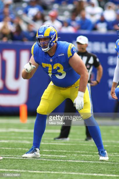David Edwards of the Los Angeles Rams in action against the New York Giants at MetLife Stadium on October 17, 2021 in East Rutherford, New Jersey....