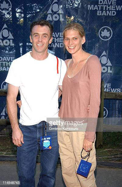 David Eigenberg and wife during Dave Matthews Band In Central Park The AOL Concert For Schools Red Carpet at The Great Lawn Central Park in New York...