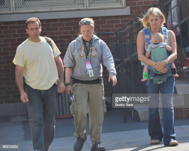 David Eigenberg Chrysti Eigenberg and Louie Steven Eigenberg on location for Sex And The City 2 on the Streets of Manhattan on September 2 2009 in...