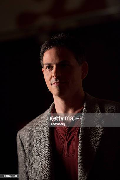 David Einhorn president of Greenlight Capital Inc stands for a Bloomberg Television spot in Atlantic City New Jersey US on Monday July 22 2013...