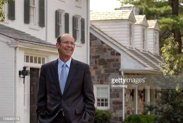 David Eisenhower, grandson of President Dwight D. Eisenhower, smiles at the Eisenhower National Historic Site in Gettysburg, Pennsylvania, U.S., on...