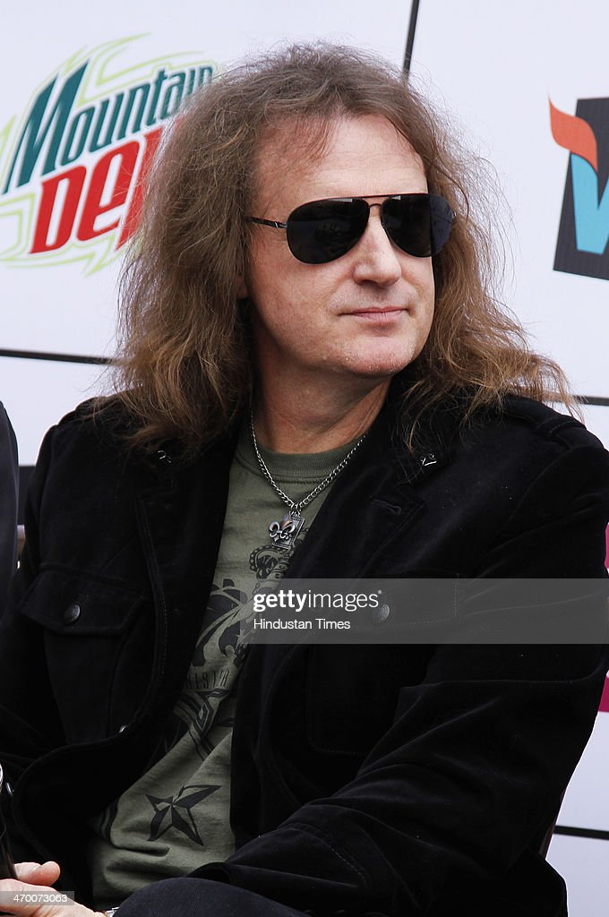 David Ellefson bassist and founding member of the American thrash metal band Megadeth during an exclusive interview with Hindustan Times on February 15, 2014 at Hotel Crown Plaza in Greater Noida, India.