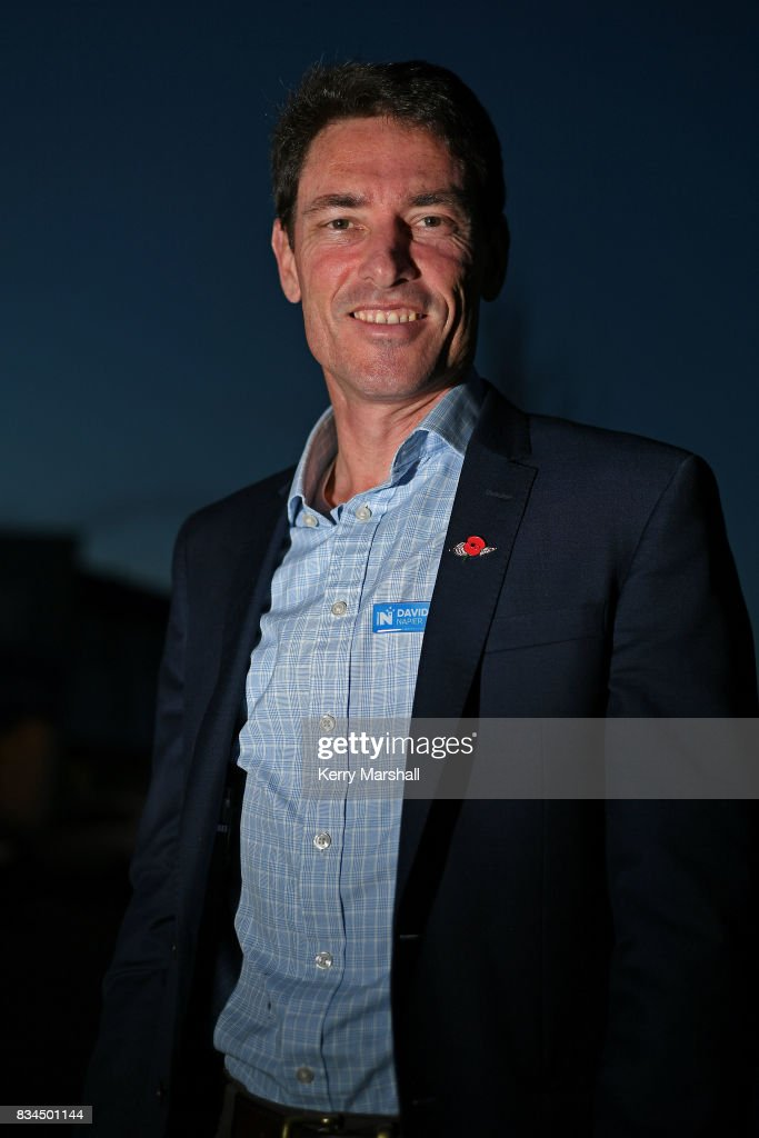 David Elliott, the National Party candidate for Napier, poses for photographs on August 18, 2017 in Napier, New Zealand. The New Zealand general election will be held on September 23, 2017.