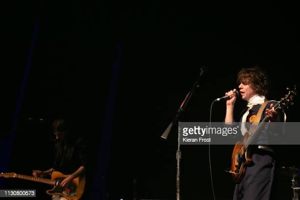 David Ellis and Johnny Borrell of Razorlight perform at Olympia Theatre on February 19 2019 in Dublin Ireland