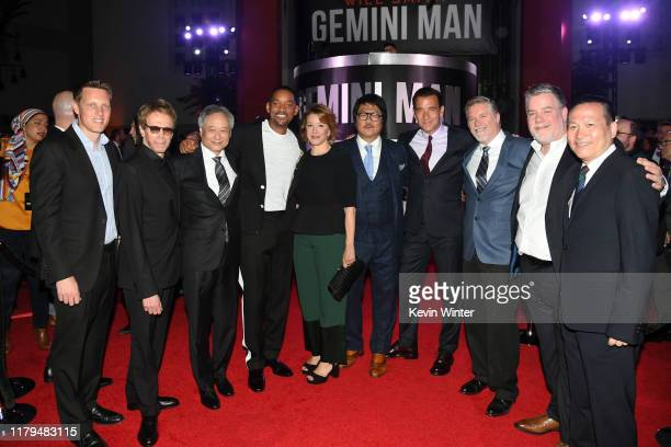 David Ellison Jerry Bruckheimer Ang Lee Will Smith Linda Emond Benedict Wong Clive Owen Bill Westenhofer Guy Williams and Li Haifeng attend Paramount...