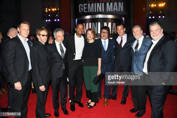 David Ellison Jerry Bruckheimer Ang Lee Will Smith Linda Emond Benedict Wong Clive Owen Bill Westenhofer and Guy Williams attend Paramount Pictures'...