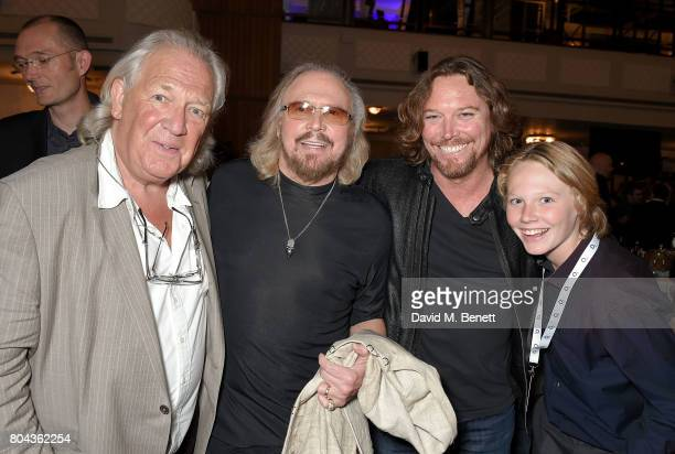 David English Barry Gibb Ashley Gibb and Lucas Gibb attend the Nordoff Robbins O2 Silver Clef Awards at The Grosvenor House Hotel on June 30 2017 in...